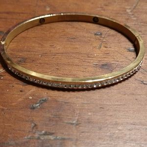 Golden Stainless Steel Rhinestone Bracelet